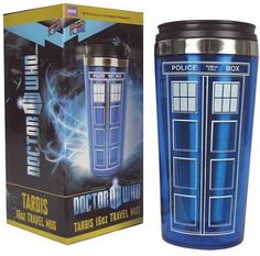 Dr Who Tardis Coffee Cup Stainless Steel Interior Thermos Mug The Tardis, Tardis Doctor Who, Doctor Who Gifts, Eleventh Doctor, Cool Travel Mugs, Travel Mug Coffee, Coffee Cups, Drink Coffee, Coffee Milk