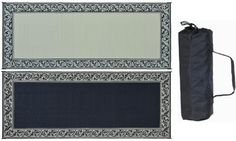 """Ming's Mark RC1 Black/Beig 8"""" X 20"""" Classical Mat by Ming 's Mark. $90.22. Beautiful Classical Border Design in Black with Beige. Fully reversible mat. Two designs in one, turn over for a different color pattern. Very easy to clean. Simply spray with water or sweep away dirt and debris. Made of a lightweight breathable material that does not damage grass. The woven construction allows for quick drying and prevents mold and mildew. Corner loops keep mat securely in place..."""