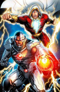 Cyborg and Shazam by *JPRart on deviantART