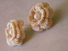 Leaf Flowers, Crochet Earrings, Jewelry, Fashion, Stud Earrings, Crocheting, Moda, Jewlery, Jewerly
