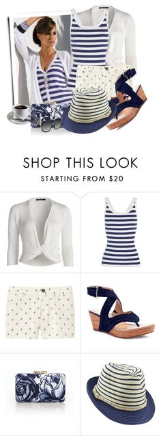 """""""Fedora Hat With Nautical Rope Band"""" by tasha1973 ❤ liked on Polyvore featuring NIC+ZOE, Dolce&Gabbana, Uniqlo, Donald J Pliner, Talbots and sass & bide"""