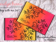 Flourishing Phrases - Stampin' Up! - Carolyn Bennie Independent Stampin' Up! Demonstrator in Australia