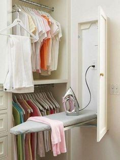 "Check out our internet site for even more info on ""laundry room storage diy small"". It is a great area to read more. Laundry Room Organization, Laundry Room Design, Laundry Rooms, Laundry Baskets, Laundry Area, Laundry Storage, Iron Board, Small Laundry, Closet Designs"