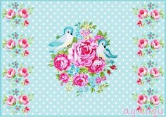 Sweet image of birds and flowers Vintage Diy, Decoupage Vintage, Pastel Home Decor, Decoupage Printables, Flowery Wallpaper, Diy And Crafts, Paper Crafts, Valentine Images, Pastel House