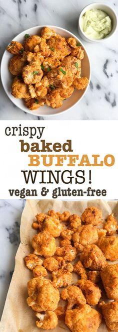 Crispy Baked Buffalo Cauliflower Wings (grain free)