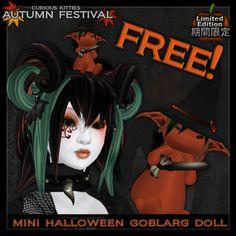 [FREE] =^.^= Curious Kitties - [Limited Edition] Mini Halloween Goblarg Doll