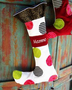 Positively Splendid {Crafts, Sewing, Recipes and Home Decor}: Whimsical Christmas Stocking Pattern and Tutorial