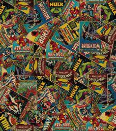 Licensed Cotton Fabric- Marvel Retro Comic: licensed fabric: fabric: Shop   Joann.com