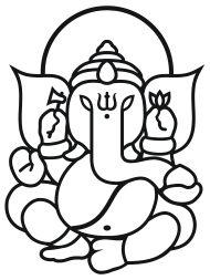 indische gottheit elefant -simpel