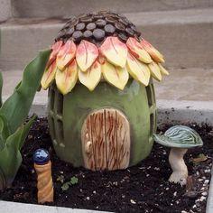 ceramic fairy houses - Google Search