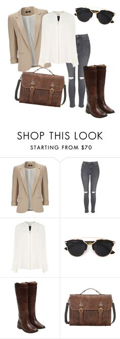 """""""Untitled #360"""" by srlangley on Polyvore featuring Wallis, Topshop, Derek Lam, Christian Dior, Frye, women's clothing, women's fashion, women, female and woman"""