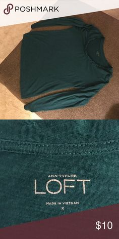 Long sleeve t shirt Great condition. Color is dark teal. LOFT Tops Tees - Long Sleeve