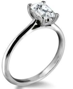 Simply stunning emerald cut diamond engagement ring by www.diamondsandrings.co.uk