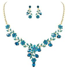 Ever Faith Flower Leaf Necklace Earrings Set Austrian Crystal Gold-Tone - Blue N03848-7 Ever Faith http://www.amazon.co.uk/dp/B00P0XHVDG/ref=cm_sw_r_pi_dp_ppCUvb1DXH2E1