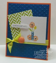 Stampin' Up! Bright Blossoms by Debbie Henderson, Debbie's Designs