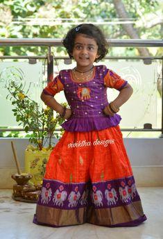 Little posser in ikkath pettu lehanga # kids ikkath lehangas #Cutie pie in our ethnic outfit # kids lehanga blouse # kids couture # kids stylist # kids fashion # kids luxury # kids hyderabad # kids room