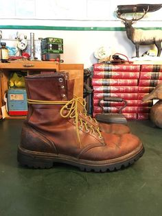 VINTAGE 70s RED WING IRISH SETTER HUNTING WORK BOOTS 12 A  | eBay