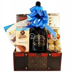 The perfect gift from a connoisseur for any occasion! This incredible gift of Sparkling wine also includes the selection of European chocolate. Wine Gift Baskets, Incredible Gifts, Belgian Chocolate, All Holidays, Chocolate Gifts, Treasure Boxes, Sparkling Wine, Wine Gifts, Special Occasion