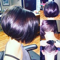 Image result for women undercut inverted bob