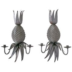 Pair of Italian Pineapple Wall Sconces | From a unique collection of antique and modern wall lights and sconces at http://www.1stdibs.com/furniture/lighting/sconces-wall-lights/