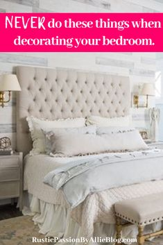 These tips will help you create the perfect zen cozy bedroom. If you are looking for design inspiration for you master bedroom or guest bedroom look no further. You will get tons of ideas and actionab Relaxing Master Bedroom, Dream Master Bedroom, Farmhouse Master Bedroom, Cozy Bedroom, White Bedroom, Bedroom Decor, Master Bedrooms, Farmhouse Bed, Earthy Bedroom