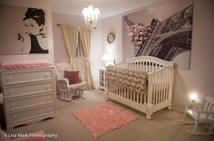 Project Nursery - Pink and Gold Paris Themed Nursery