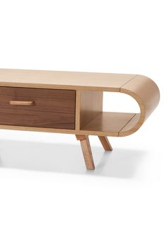 The Fonteyn Coffee Table, in Oak and Walnut. A practical and eye-catching addition to your living room, designed by Steuart Padwick. Luxury Interior, Interior Styling, Retro Coffee Tables, Vintage Trunks, Center Table, Home Pictures, Family Room, Furniture Design, House Styles
