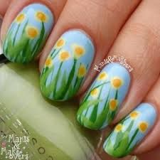 Image result for daffodil nail art