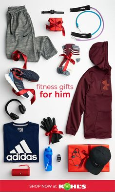 Get New Fitness Gifts For Men At Kohl S We Ve Got The Activewear And Workout Gear To Support His Healthy Lifest Adidas Christmas Gifts Adidas Gifts Nike Gifts