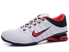the latest e6459 28912 Chaussures Nike Shox R2 Blanc  Noir  Rouge  nike 12140  - €49.97