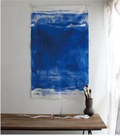 Painted fabric by Nani Iro. Blue + wooden. mmmmm.