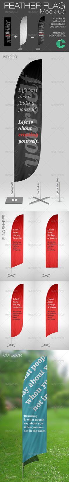 Feather Flag Mock-up  - Signage Print