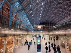 St. Pancras Station, London, England. Not been there since the interior was revamped.