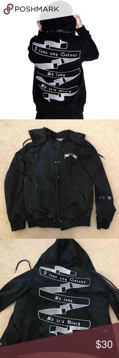 23e5c3af KILLSTAR denim jacket Size men large, Goth KILLSTAR black craft cult punk  KILLSTAR Jackets & Coats Bomber & Varsity