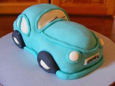 Blue car cake