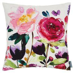 bluebellgray Red Rose Cushion, Multi