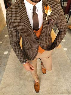 Plaid Suit, Suit Vest, Wool Suit, Skirt Suit, Brown Suits, Black Suits, Formal Men Outfit, Classy Suits, Suits For Sale