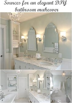Master Bathroom with pedestal tub, white subway tile, carrera (with sources)