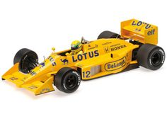 Lotus Renault (Ayrton Senna - in Yellow scale by Minichamps Diecast Model Cars, Formula One, F1, Lotus, 18th, Scale, Yellow, Ayrton Senna, Weighing Scale