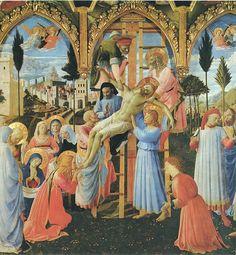 50. Beato Angelico - Deposizione dalla Croce - 1432-34 - Firenze, Museo Nazionale di San Marco