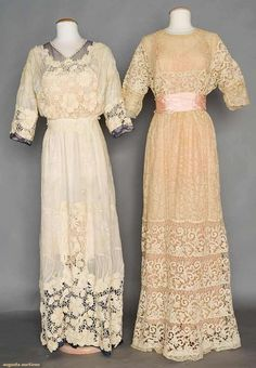 c.1910 lace tea gowns, Augusta Auctions