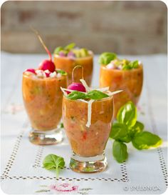Spicy Gazpacho - A deliciously aromatic gazpacho with a touch of spice. Total time: 15 mins. Serves: 4-6.
