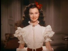 Vivien Leigh costume screen test for GWTW