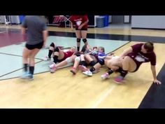 Nipomo High School Volleyball Camp Team Building Exercise Conveyor Bely - YouTube