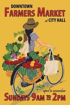 College Park Farmers Market banner based on vintage French posters