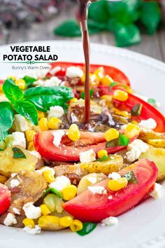 Vegetable Potato Salad- the best alternative to mayonnaise based salads and making a Summer Salad gluten free using potatoes. Top Food Blogs, Apple Fritter Recipes, Asian Recipes, Ethnic Recipes, Food Crush, Spinach Salad, Fresh Vegetables, Veggies, Butter Chicken