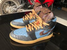 Authentic Nike Air Jordan 1 Customs Made to Order US mens sizes 7 8 9 10 11 12 13 Custom Sneakers, Custom Shoes, Us Man, Jordan 1, Custom Made, Air Jordans, Nike Air, Bring It On, Men