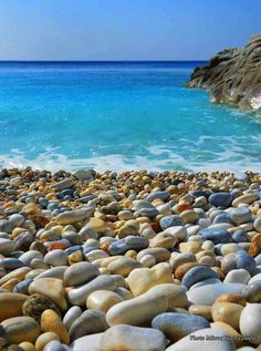 Ithaca, Ioanian Sea, Greece ⭐️ Photo by Manos Gambierakis Beautiful Landscape Wallpaper, Beautiful Landscapes, Pebble Beach, Ocean Beach, Ikaria Greece, Corfu, Seen, Am Meer, Vacation Pictures