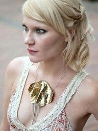 """Image: OSI Photography     Actress: Tara Buck from True Blood showing off some NORA CATHERINE-USA  jewelry """"I am a jewelry designer in Nashville Tennessee. I work in unusual stones, fossils and gemstones, combined with hand shaped, pound and buffed sterling silver, copper and gold. You can find my work in local galleries and boutiques as well as my website."""" https://www.facebook.com/pages/Nora-Catherine-Jewelry/209712930252?id=209712930252&sk=info"""
