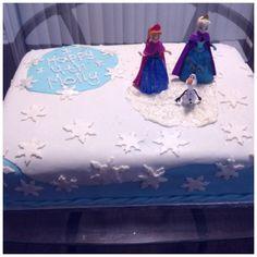 Disney Frozen birthday cake www.facebook.com/bakedandbeyond